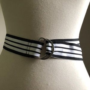 Black & White Striped Belt